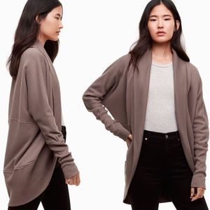ARITZIA Wilfred Diderot Open-Front Cardigan Brown